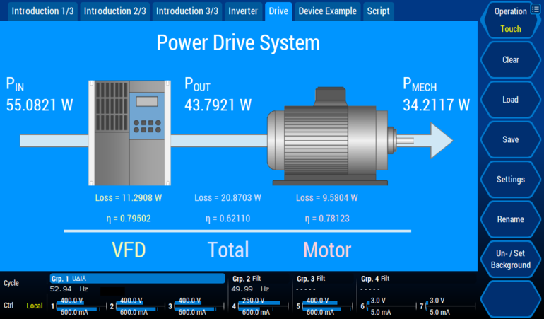 Custom Menu - Power Drive System