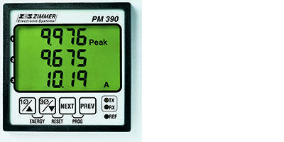 PM390 - Electronic Power- and Energy Meters for Panel and Rail Mounting